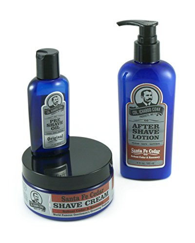 colonel conk 3 piece all natural shaving kit santa fe cedar my beard shop the best beard. Black Bedroom Furniture Sets. Home Design Ideas