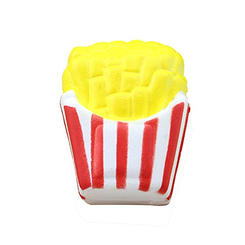 Islandse❤Squishy French Fries Scented Squishy Slow Rising Squeeze Toys Jumbo Collection Yellow -