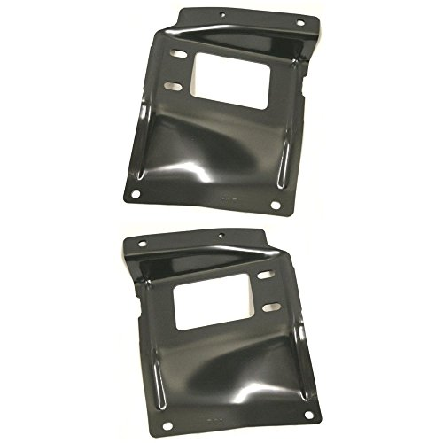 (Bumper Bracket compatible with Ford F-Series Super Duty 05-07 Front Right and Left Side Mounting Plate Steel)