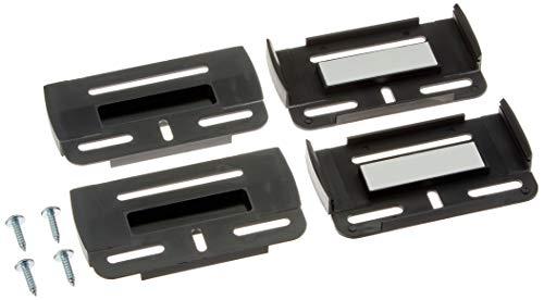 Kentekenplaathouder met Simple Fix, in zwart, inhoud: 2 stuks