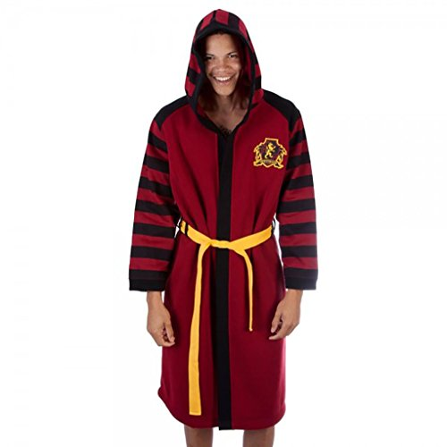 [Adult size Harry Potter Gryffindor Hooded Robe - Hogwarts - Large/Xlarge] (Hogwarts Robes Gryffindor)