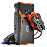TACKLIFE T8 800A Peak 18000mAh Car Jump Starter (up to 6.5L Gas, 5.5L Diesel engine) with LCD Screen, USB Quick Charge, 12V Auto Battery Booster, Portable Power Pack with Built-in LED light