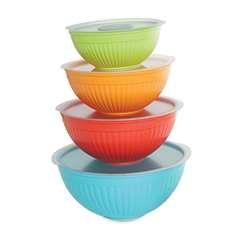 Nordic Ware 8 Piece Covered Bowl Set, Multicolor