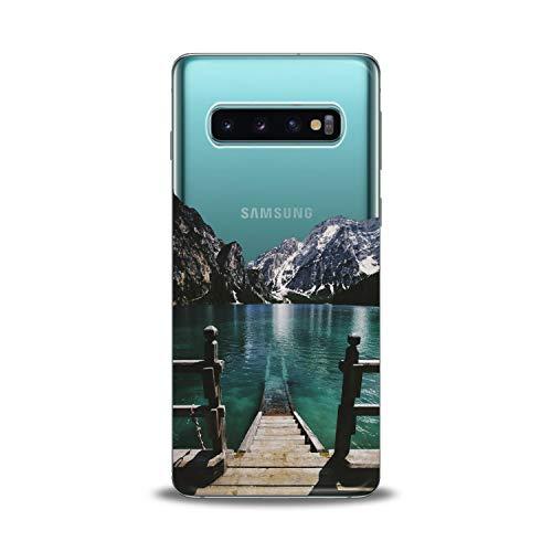Lex Altern Samsung Galaxy TPU Case J7 MAX Core J6 Plus J4 J3 J2 Prime Wooden Bridge Clear Phone Lake Cover Print Neutral Stylish Beautiful Protective Creative Design Graphic Flexible Soft Silicone]()