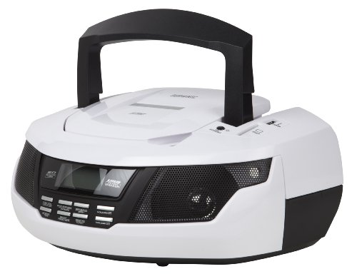 Duronic CD Player RCD99W Radio Boombox with Clock, Speakers, Flash memory...