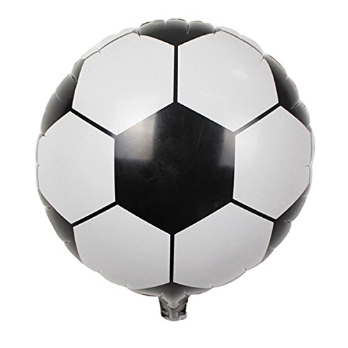 Desirca 5Pcs 45Cm Football/Soccer Foil Balloons For Birthday Party Children'S Day Bar Ktv Decoration Theme Party Supplies by Desirca