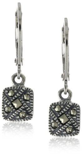 Judith-Jack-Sterling-Silver-Marcasite-Square-Drop-Earrings