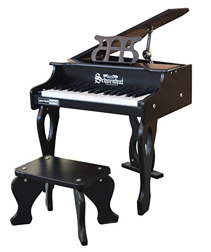 Schoenhut 30 Key Digital Baby Grand Toy Piano, Black, One Si