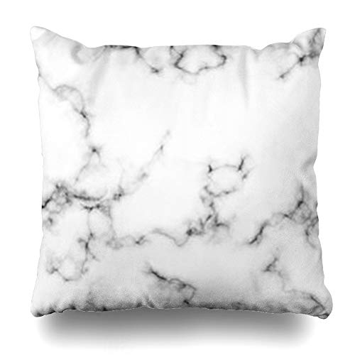 Tobesonne Throw Black Pillow Marbled Gray White marble wall art