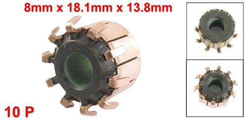 uxcell Power Tool Part Motor Commutator 10P Copper Bars 8mm x 18.1mm x 13.8mm