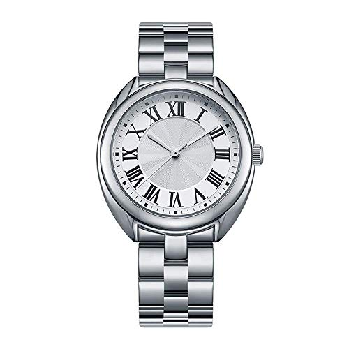 BEWITCHYU  Practical Wristwatches Women 's Simple Ultra-Thin 9.5Mm Quartz Watch 35Mm Solid Steel Belt Casual Fashion Decorative Watch BraceletSilver