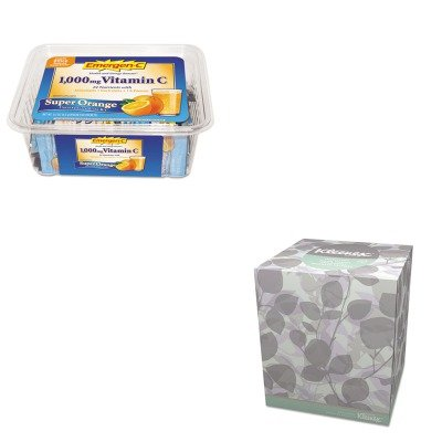KITALA130279KIM21272 - Value Kit - Kimberly Clark 21272 Kleenex Natural Boutique Facial Tissue, White (KIM21272) and Emergen-C Immune Defense Drink Mix (ALA130279)
