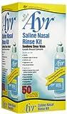 Ayr Saline Nasal Rinse Kit-50ct (Quantity of 3)