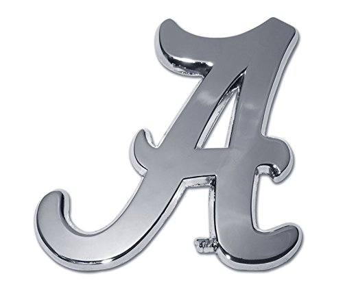 University of Alabama Crimson Tide METAL Auto Emblem - Many Different Colors Available! Roll Tide! (Chrome) -