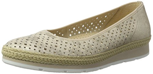 Beige Bailarinas para Comfort Jute Mujer 12 Silk Gabor Shoes xSq7EnXwq6