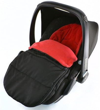 Saco de dormir para asiento de coche, compatible con asiento de coche Kiddy, color rojo