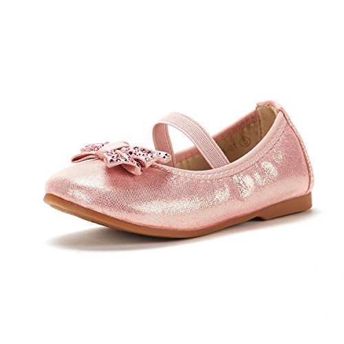 DREAM PAIRS Toddler Tiana_01 Pink Girl's Mary Jane Ballerina Flat Shoes Size 7 M US Toddler ()