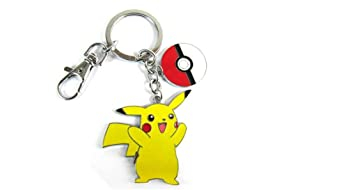 Pokemon Pikachu y Pokeball llavero de metal: Amazon.es ...
