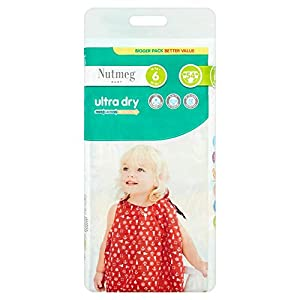 Nutmeg Baby Ultra Dry Nappies Size 6, Pack of 54