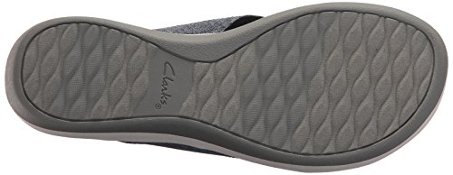 CLARKS Womens Arla Elin Sandal, Navy Heathered Textile, 9 Medium US