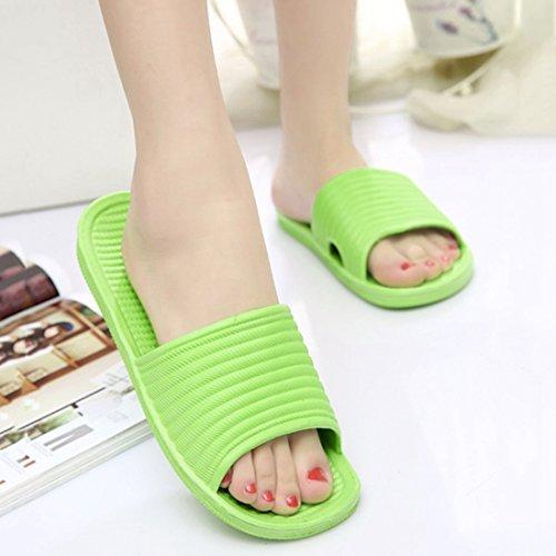 Qianle Unisex Antislip Huis Sandaal Badslipper Indoor Vloer Slipper Groen