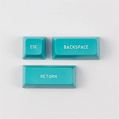 SSSLG Keycaps 3 Keycaps,Purple ESC Backspace Enter Key to Add Maxkey Mechanical Keyboard Keycap SA Height Keycap