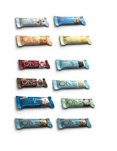 Oh Yeah! One Bar Super Variety 12 Count ALL FLAVORS Carb Control 12 Bars