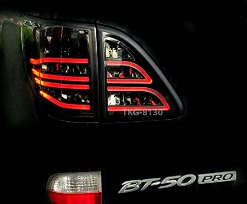 K1AutoParts LED L.E.D. Rear Taillights Tail Light Lamps Smoked Lens For Mazda BT50, BT-50,BT 50 Pro Pickup 2012 2013 2014 2015