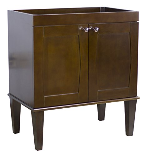 American Imaginations Rectangle Shape Transitional Vanity Base, Comes with a Lacquer-Stain Finish in Antique Walnut Color by American Imaginations
