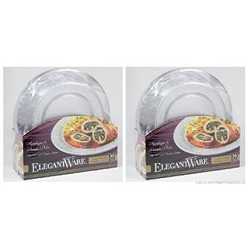 Elegant-ware Disposable Dinner Plate Pack of 100  sc 1 st  Amazon.com & Amazon.com: Elegant-ware Disposable Dinner Plate Pack of 100 ...