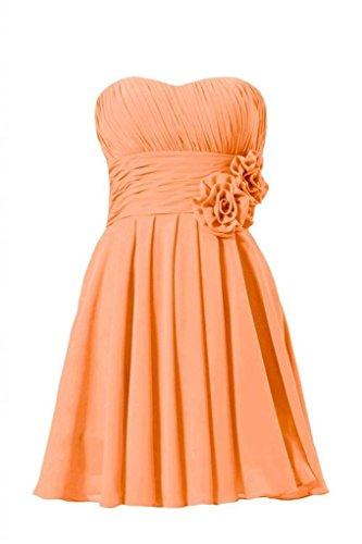 Partito arancio Breve Vestito Da Damigella Senza Innamorato Spalline bm2424 22 D'onore Daisyformals PSqOwgIq