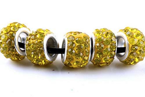 (Werrox 20PCS Silver Murano Glass Beads Lampwork Fit European Charm Bracelet DIY | Model BRCLT - 21519 |)