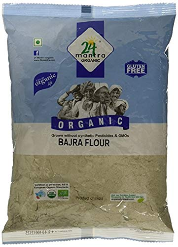 24 Mantra Organic Bajra (Pearl Millet) Flour (500g)