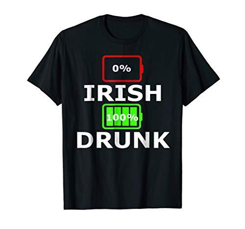 0 Irish 100 Percent Drunk Funny St Patricks Day T Shirt ()