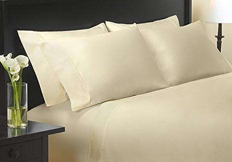 Carisma 400 Hilos satén tamaño Queen Juego de sábanas 100% algodón Egipcio: Amazon.es: Hogar