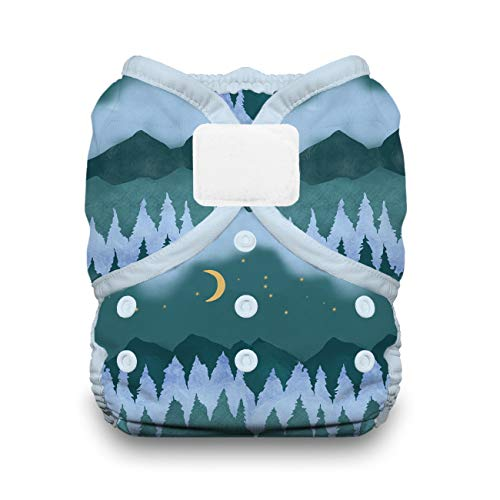 Thirsties Duo Wrap Cloth Diaper Cover, Hook and Loop Closure, Mountain Twilight Size Two (18-40 lbs)