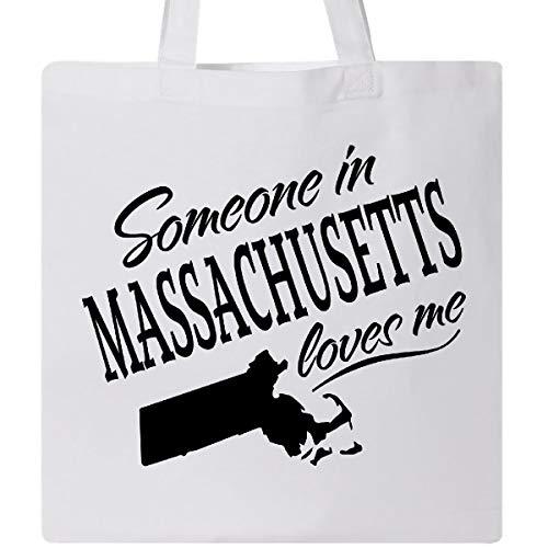 Inktastic - Someone in Massachusetts Loves Me Tote Bag White - Bag Massachusetts