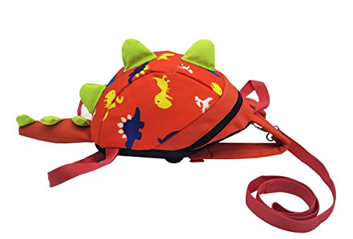 Baby Pooh The Monitor Winnie (Longxing 3D Dinosaur Design Safety Leash Harness Bag Mini Backpack for Toddlers Kids (red))