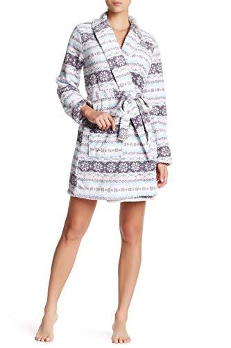 Laura Ashley Printed White Snow Fair Isle Robe, X-Large