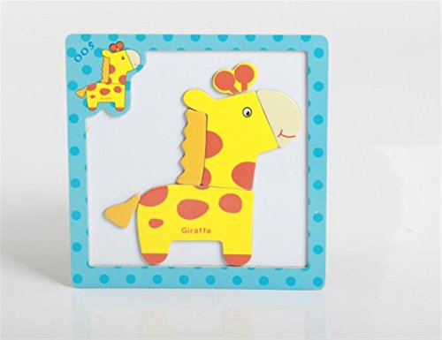 Chusea Interesting Jigsaw Puzzles Wooden Magnetic Peg Puzzle Safe Education Learning Toy Fantastic Gifts For Kids(Giraffe) ()