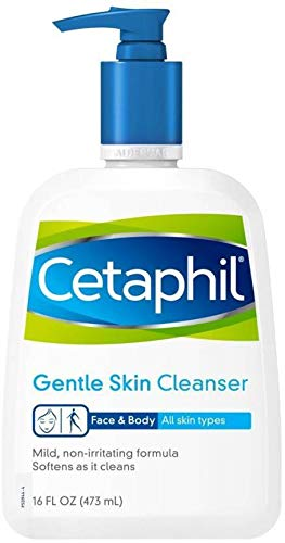 Cetaphil Gentle Skin Cleanser for All Skin Types, Face Wash for Sensitive Skin, 16 oz. Bottle