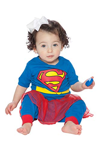 DC Comics Girls Tutu Pajamas, Blue, 12 Months -
