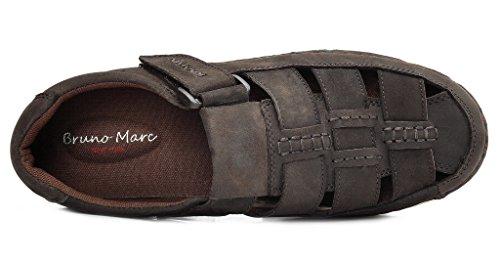 Bruno Marc Heren Havana Outdoor Visser Sandalen 01-bruin Nubuck