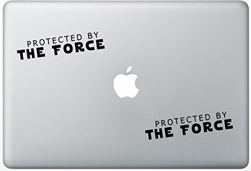 Protected By The Force Star Wars Inspired ArcDecals78602518 Set Of Two (2x) , Decal , Sticker , Laptop , Ipad , Car , Truck (Skin Vinyl Force)