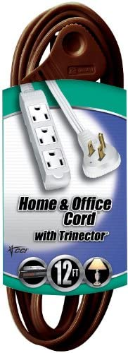 SPT-2 Cube Tap Extension Cord w//Trinector Coleman Cable 03518 2 Pack 16//3 12ft