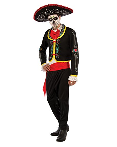 Rubie's Costume Co Men's Plus Size Day Of The Dead Senor Costume, Multicolor, One (Day Of The Dead Senor Adult Costumes)