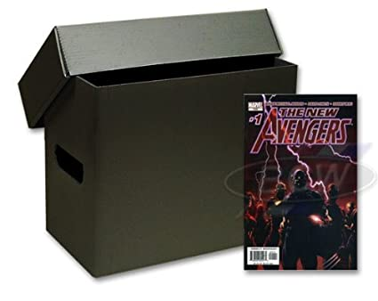 10 Short Plastic Comic Book Storage Boxes - Black  sc 1 st  Amazon.com & Amazon.com : 10 Short Plastic Comic Book Storage Boxes - Black ...