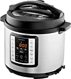 Insignia- 6-Quart Multi-Function Pressure Cooker - Stainless Steel