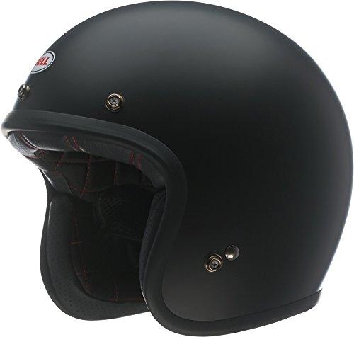 Bell Custom 500 Open-Face Motorcycle Helmet (Solid Matte Black, Medium)