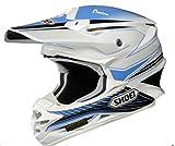 Shoei VFX-W Sear Off-Road Helmet (White/Sky Blue/Black, Large)